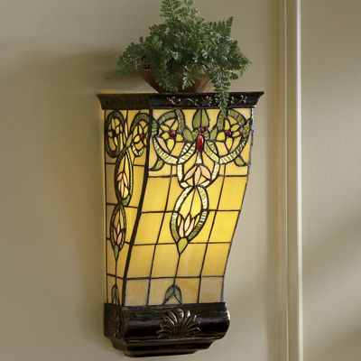 Stained Glass LED Wall Sconce Shelf from Seventh Avenue