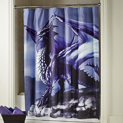 kitchen utility carts rug runner ethereal dragon shower curtain from seventh avenue | di745959