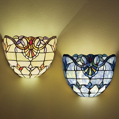Stained Glass Wireless Wall Sconce from Seventh Avenue