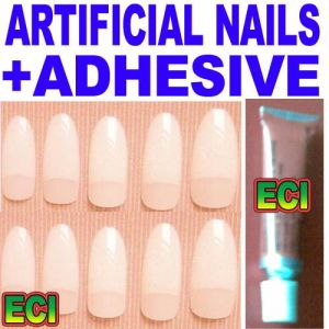 Beautiful Artificial Nails With Adhesive