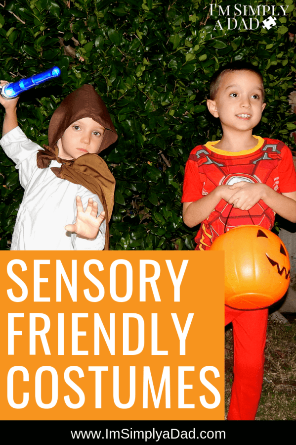 Sensory Friendly Costumes Does Halloween cause anxiety for your sensory sensitive kiddo? Here's 20 sensory friendly costumes to help ease the angst, and ensure a #HappyHalloween #specialneeds #SPD #ASD #aurism #sensoryfriendly