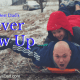 play with my kids sledding
