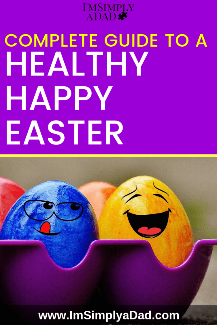 Complete guide to a happy, healthy Easter. Simple ideas for natural Easter baskets for all families. Great ideas for young kids, children with autism and/or special needs. These are perfect for those on special diets or needing allergy friendly easter baskets. Help keep your Easter sugar free and fun this year.