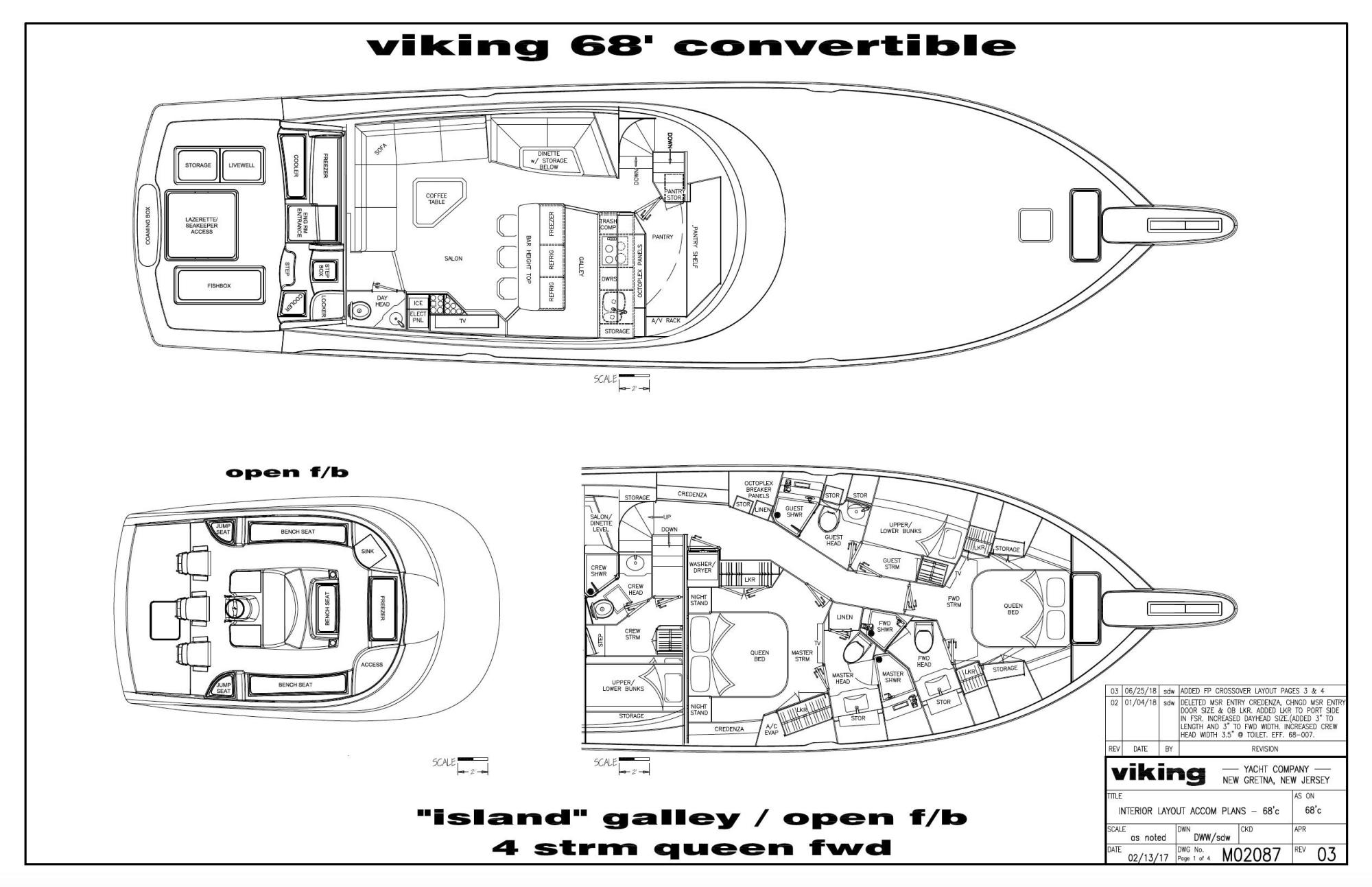 hight resolution of 68 viking 2019 viking 68 cnv starboard queen fwd layout
