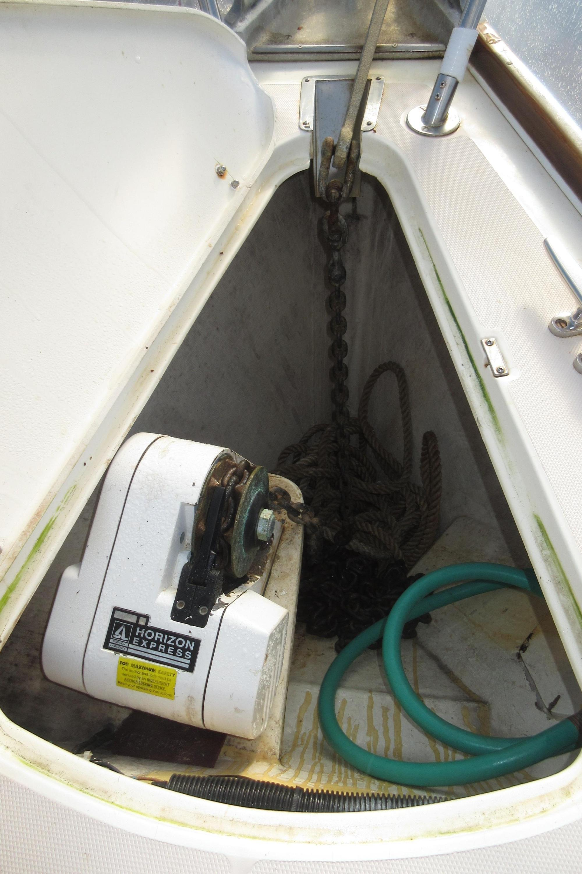 hight resolution of 40 sabre sabre 402 coatue anchor locker with windlass and washdown