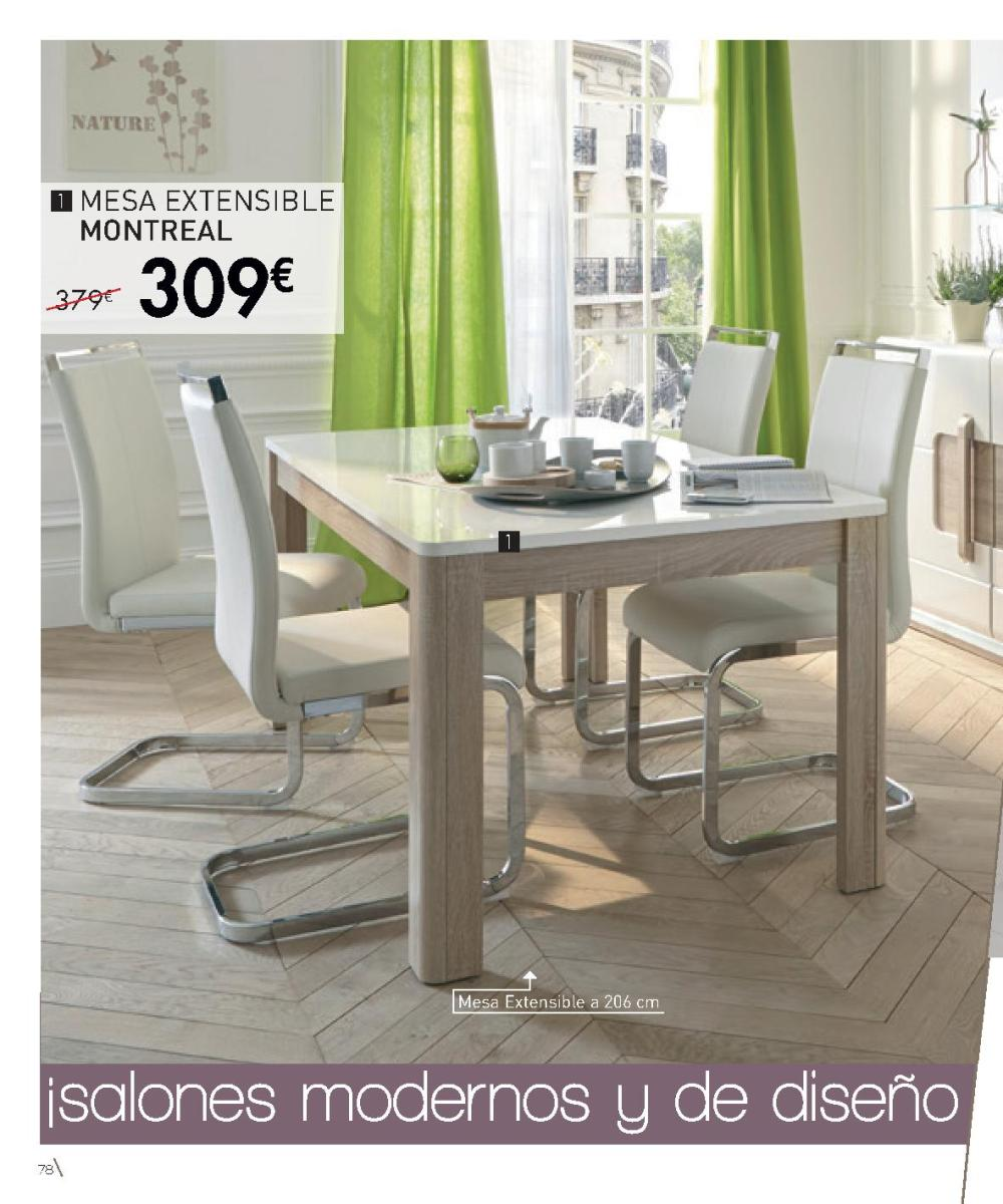 Cat logo conforama 2017 mesas y sillas comedor imuebles for Catalogo sillas comedor
