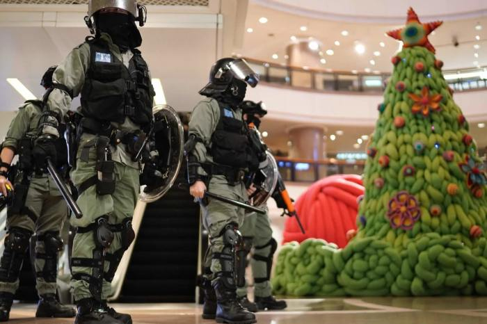 Hong Protests: Cops Vs Protesters