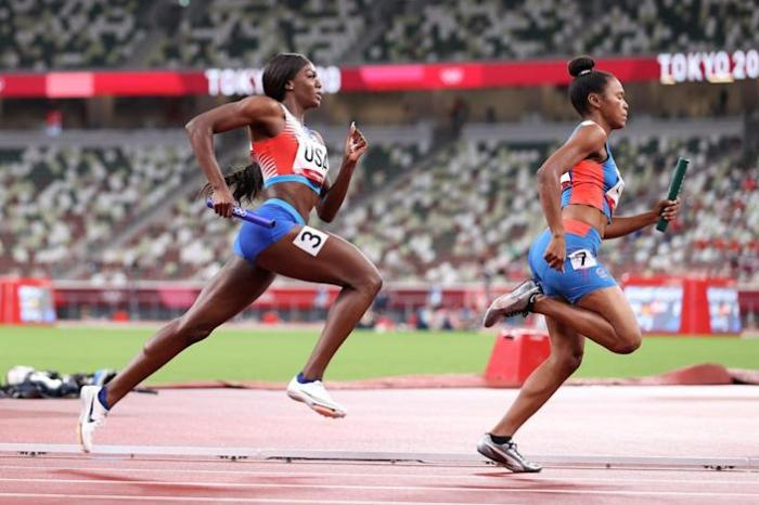 Team USA DQ'd In 4x400 Mixed Relay For Faulty Baton Passing