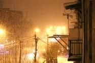 Balcony snow lights