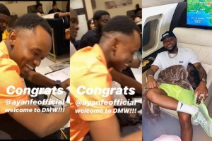 Davido signs artist Ayanfe to DMW