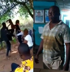 Man arrested after throwing a small boy on the floor for stealing
