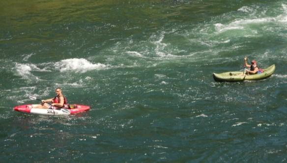 Rivrpark kayakers