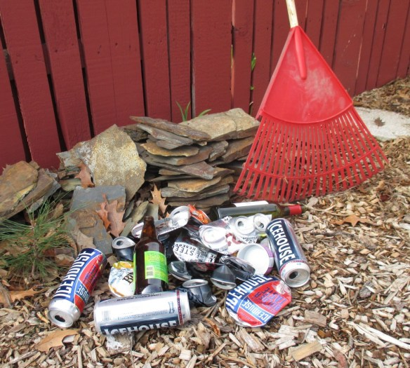 red neck beer can clean up