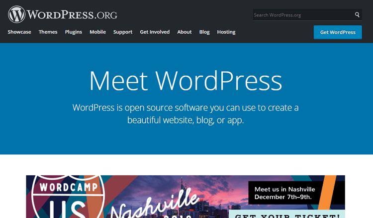 Blog Tool Publishing Platform and CMS — WordPress