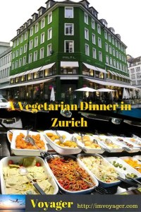 A Vegetarian Dinner in Zurich