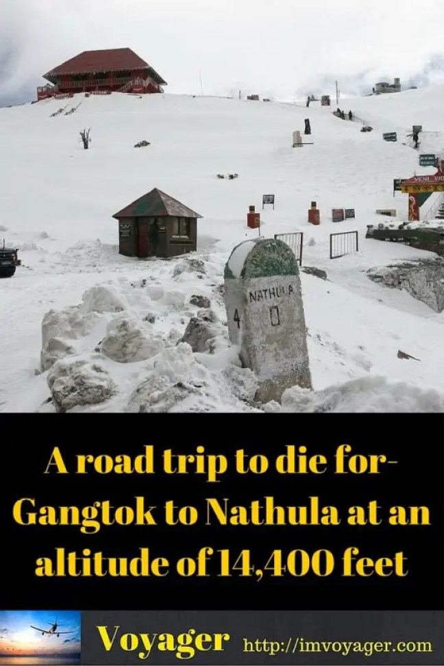A road trip fromGangtok to Nathula at an altitude of 14,400 feet