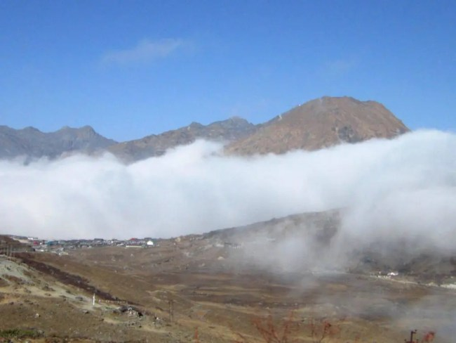 View from atop the Bunker - A road trip from Gangtok to Nathula at an altitude of 14,400 feet
