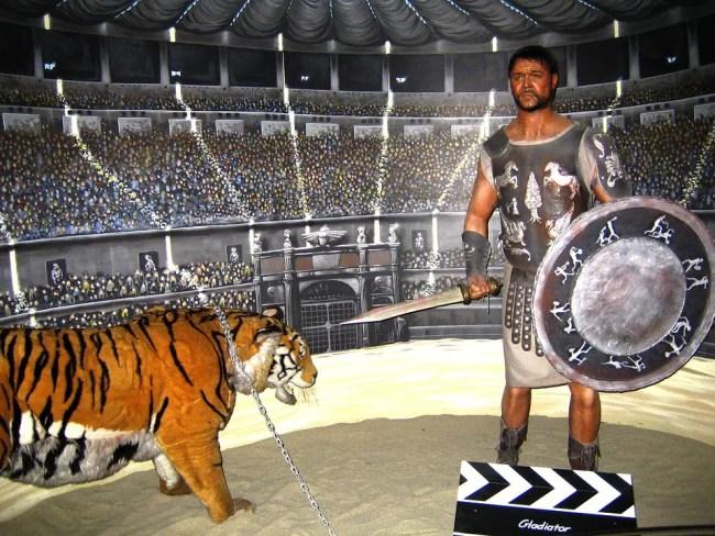 Gladiator fight in the Colosseum in Rome