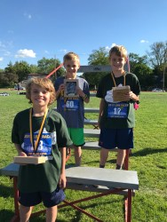 Not a particpant trophy. Connor took second at the LBW race in the 800 meter run.