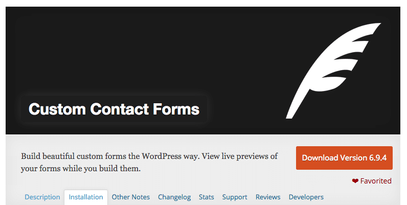 Create Form With Custom Contact Forms