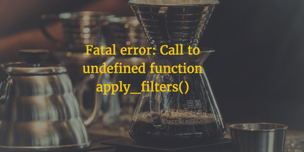 WP CLI Call To Undefined Function Apply_filters()