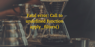 WP CLI Call To Undefined Function Apply_filters