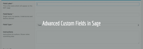 Advanced Custom Fields In Sage