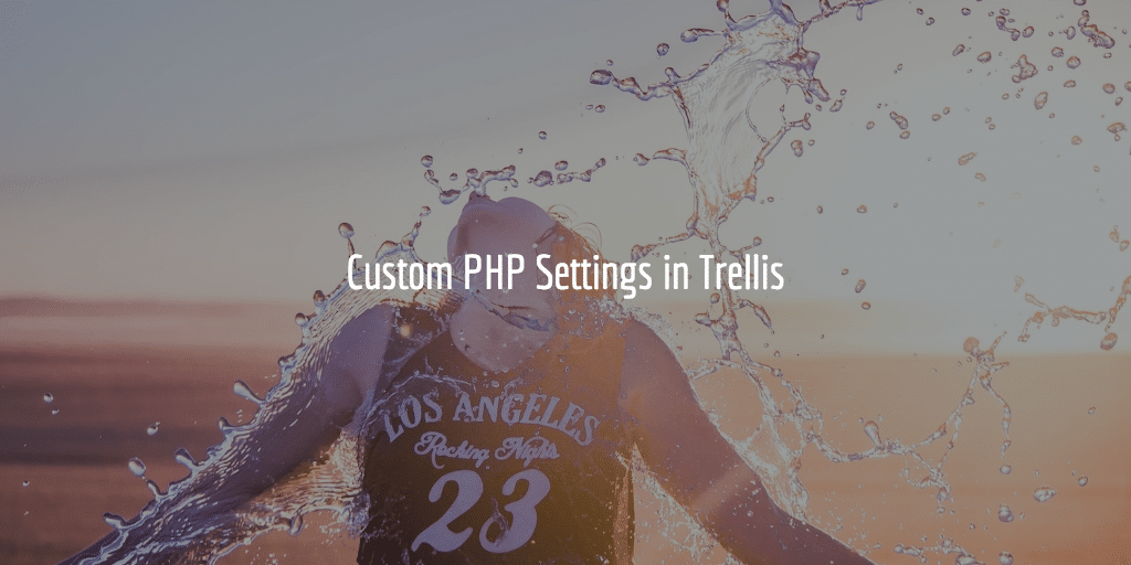 Custom PHP Settings In Trellis