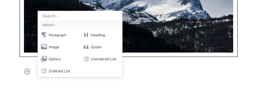 Gutenberg Options
