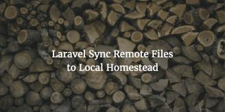 Laravel Sync Remote Files To Local Homestead