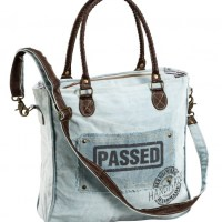 "Schultertasche ""Passed"" Canvas"