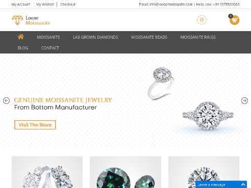 Buy Loose Moissanite Stones & Jewellery India [Best Price]