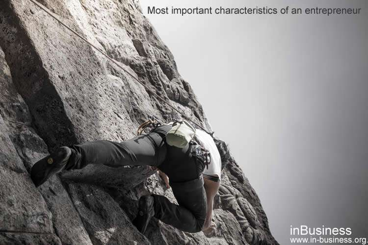 Characteristics of an entrepreneur - tenacity and determination