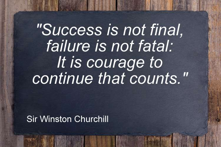 Success failure quote Sir Winston Churchill