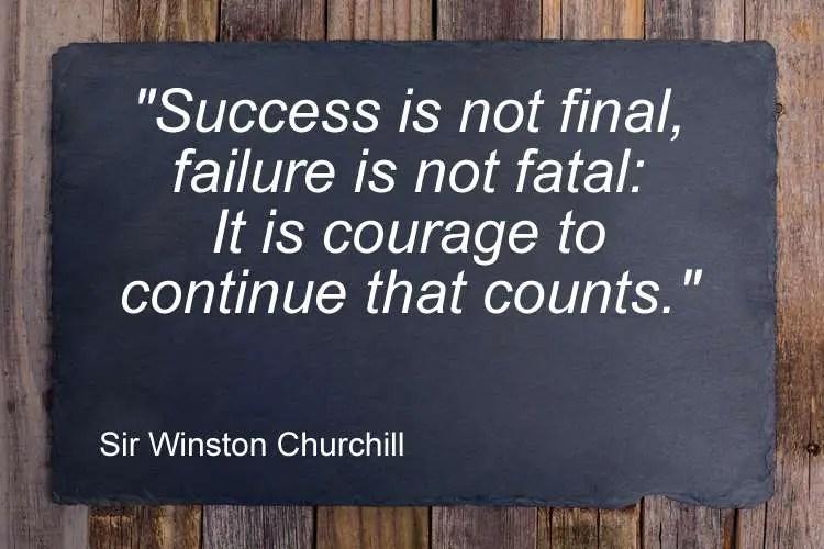 Success failure quote Sir Winston Churchill