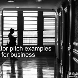 Elevator pitch examples for business