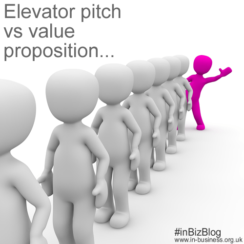 Elevator pitch vs value proposition