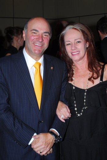 Arlene Dickinson with Kevin Oleary