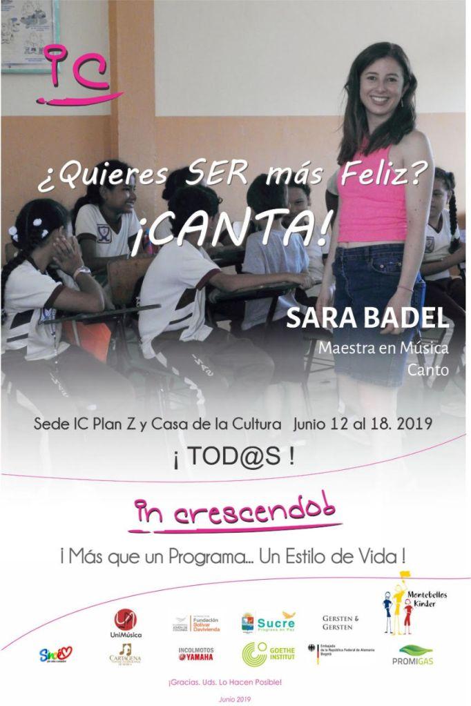 ¿Quieres ser más feliz? CANTA – Sara Badel