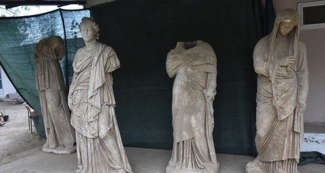Six Ancient Greek Statues Discovered In Southwestern Turkey In Cyprus Com