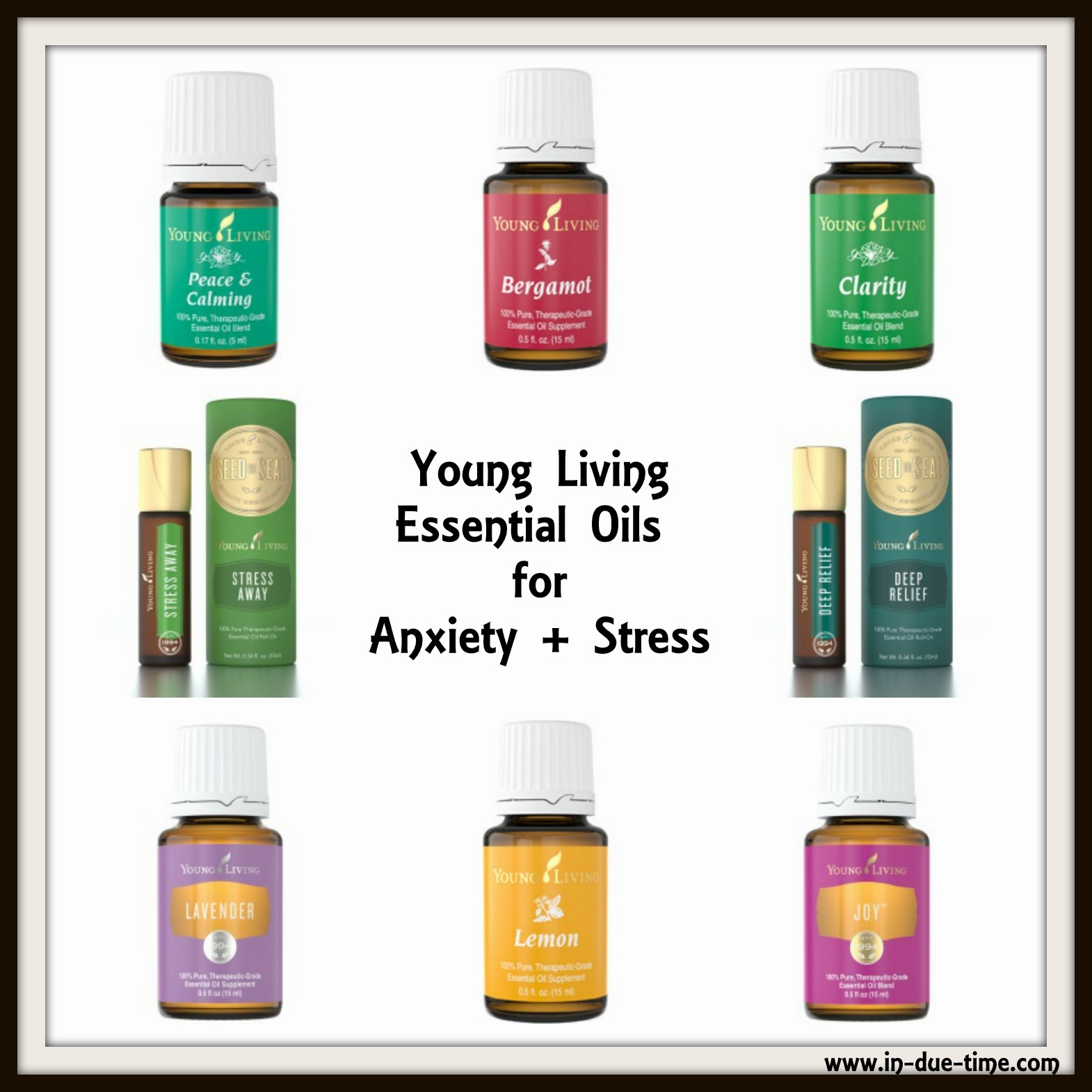 Anxiety and Stress Young Living Oils Square
