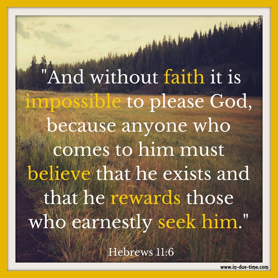 Hebrews 11:6 - Have Faith #107 - In Due Time