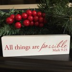 Family Christian Christmas Decor
