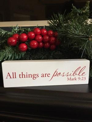Family Christmas Christian Decor