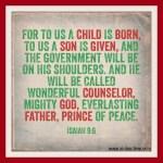 Isaiah 9:6 – Child is Born #117