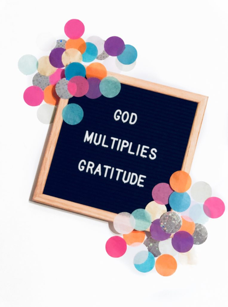 God Multiplies Gratitude Thanksgiving Christian Infertility