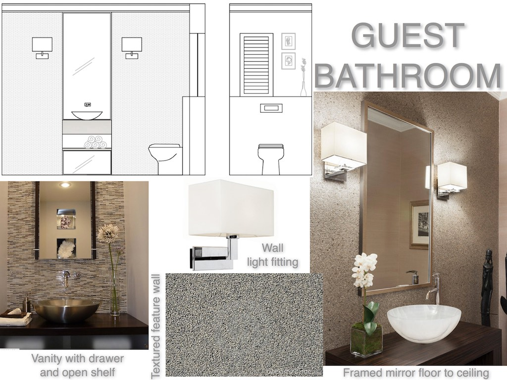 Mood-board for guest bathroom