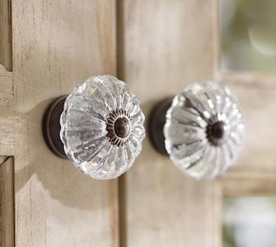 new glass knob on old door