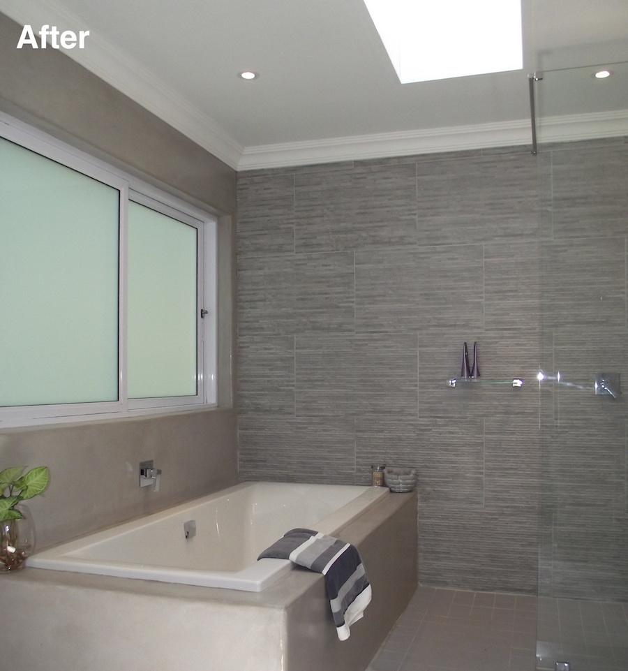 ensuite bath tub after