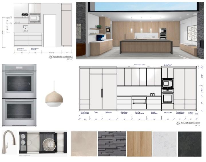New design for modern kitchen, new built